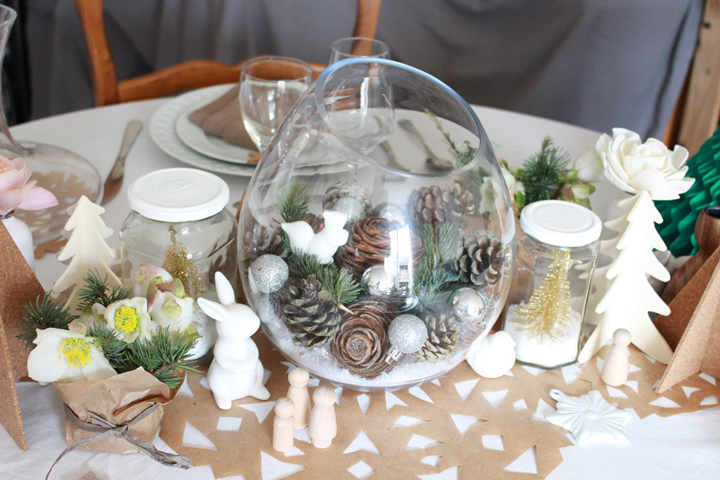 Idee deco deco de noel nature 1000 id es sur la - Decoration de table nature ...