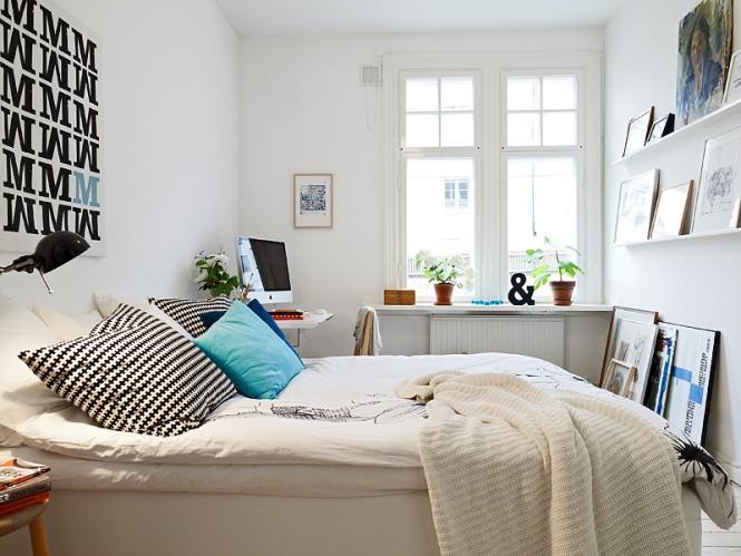 Scandinavian-bedroom-with-modern-decoration
