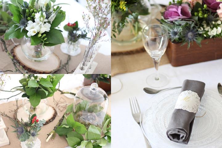 Inspiration d coration de table champ tre et boh me - Idee deco table champetre ...
