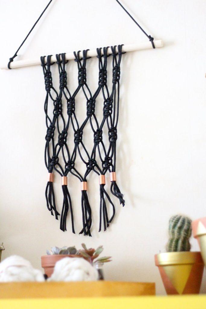 diy suspension macrame et cuivre kit pret a cr er. Black Bedroom Furniture Sets. Home Design Ideas