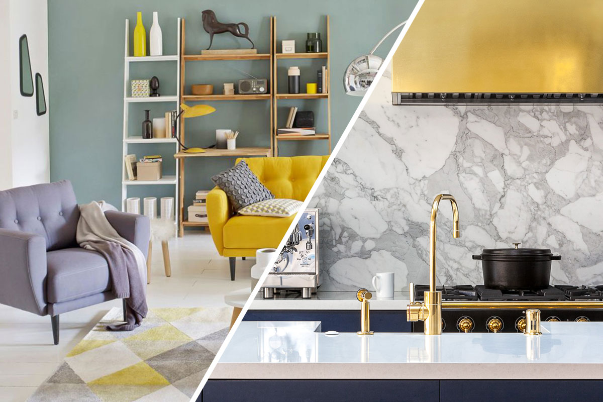 inspirations d co vert de gris et laiton. Black Bedroom Furniture Sets. Home Design Ideas