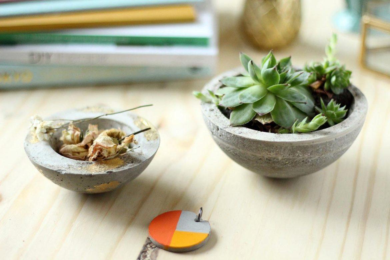 diy beton créatif : les petits pots pour plantes