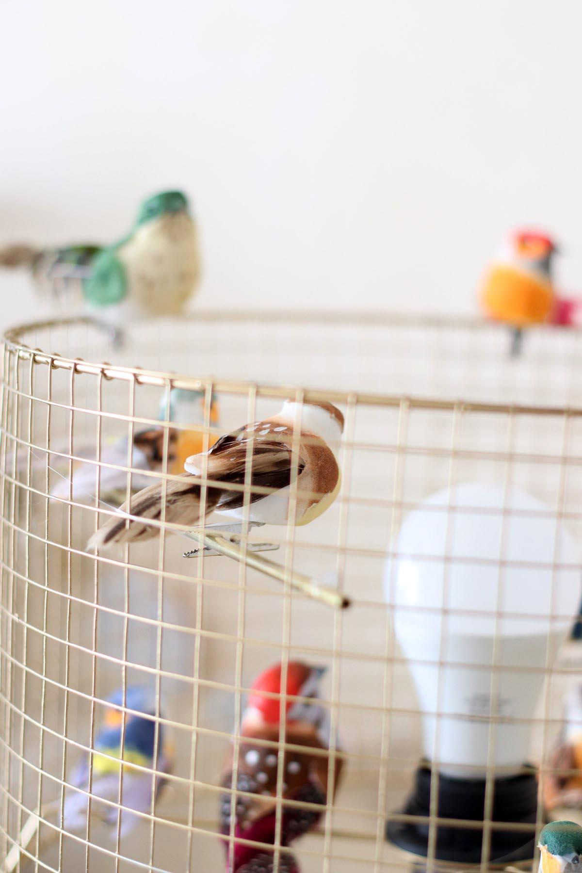 Diy abat jour cage oiseaux - Repeindre un abat jour ...